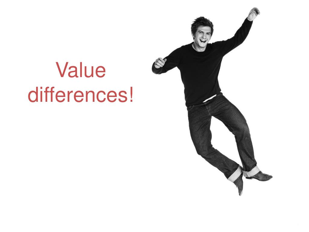 Value differences!