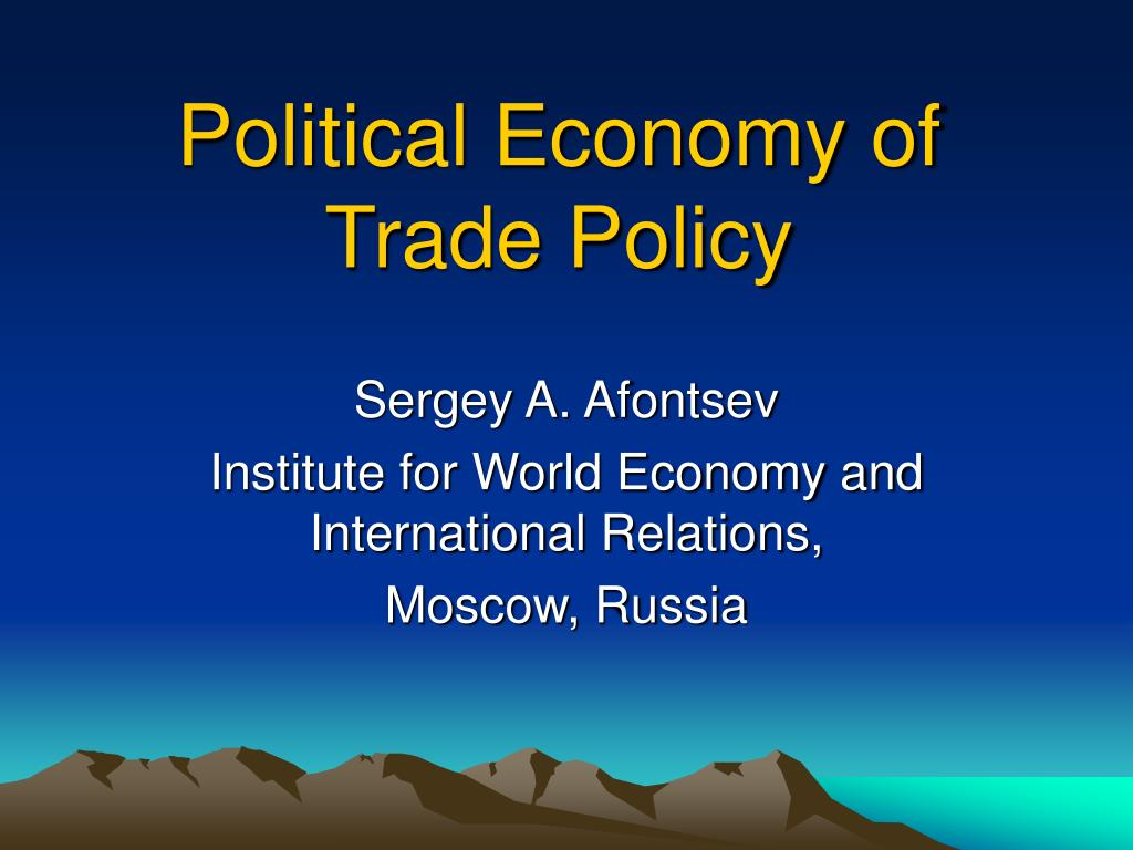 political economics What is political economy students of economics are usually taught their subject in isolation from politics and history, but for marxists the economic can only be analysed in a political way, here is why.