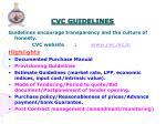 cvc guidelines