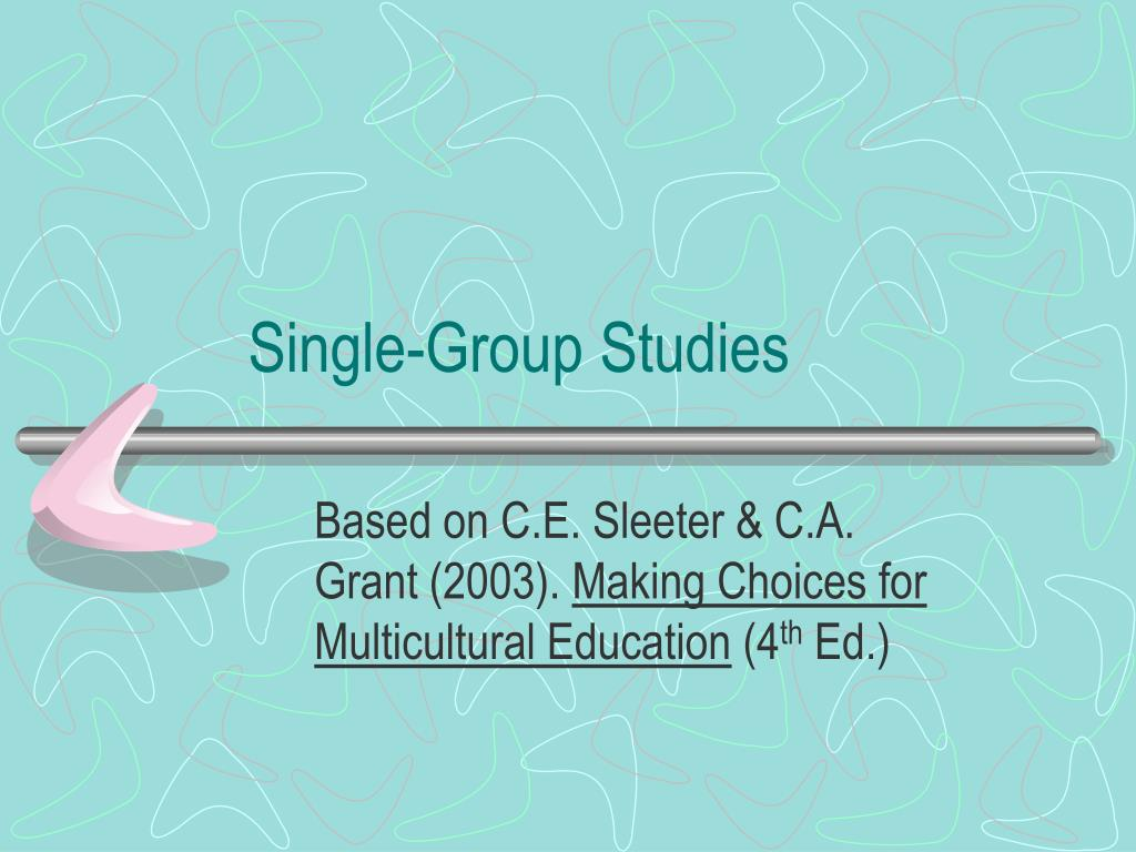 Single-Group Studies