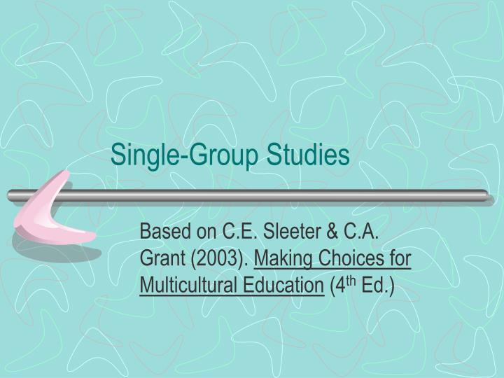 Single group studies