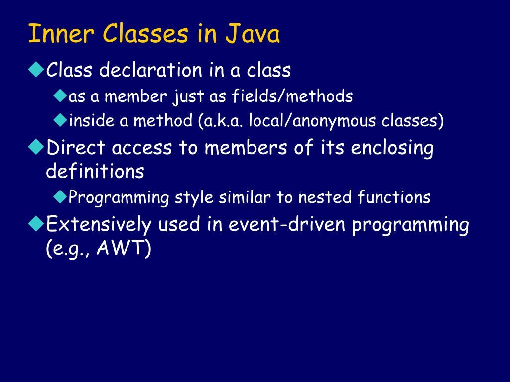 Inner Classes in Java