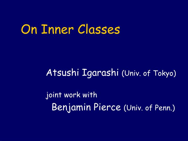On inner classes