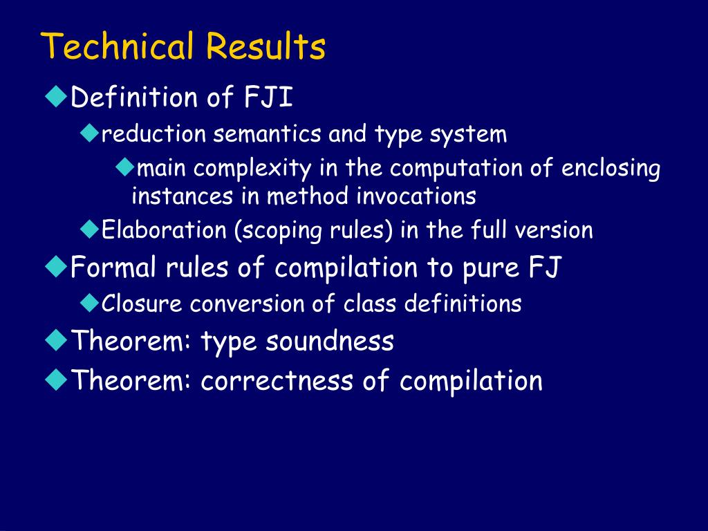 Technical Results