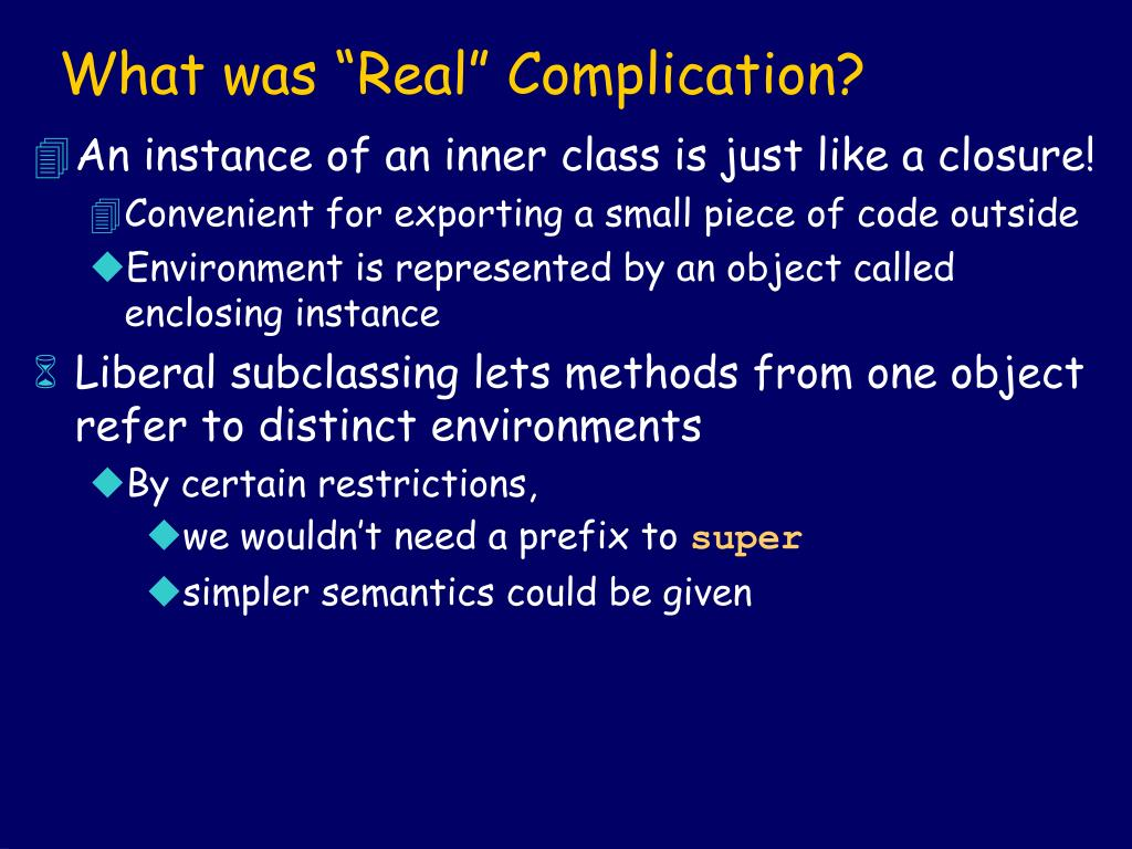 """What was """"Real"""" Complication?"""