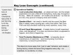 key lean concepts continued9