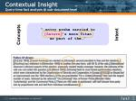 contextual insight query time fact analysis @ sub document level