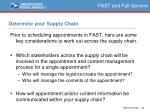 determine your supply chain