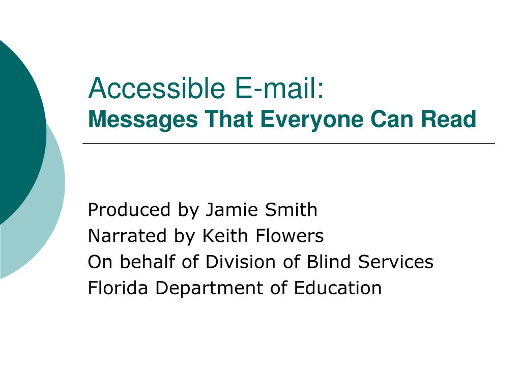 accessible e mail messages that everyone can read l.