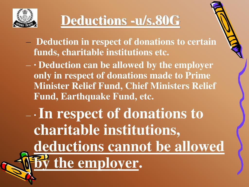 Deductions -u/s.80G