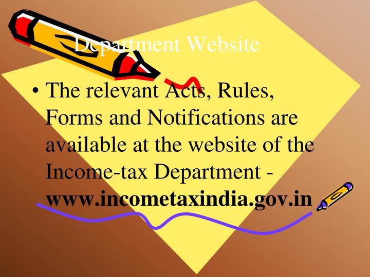 Department website