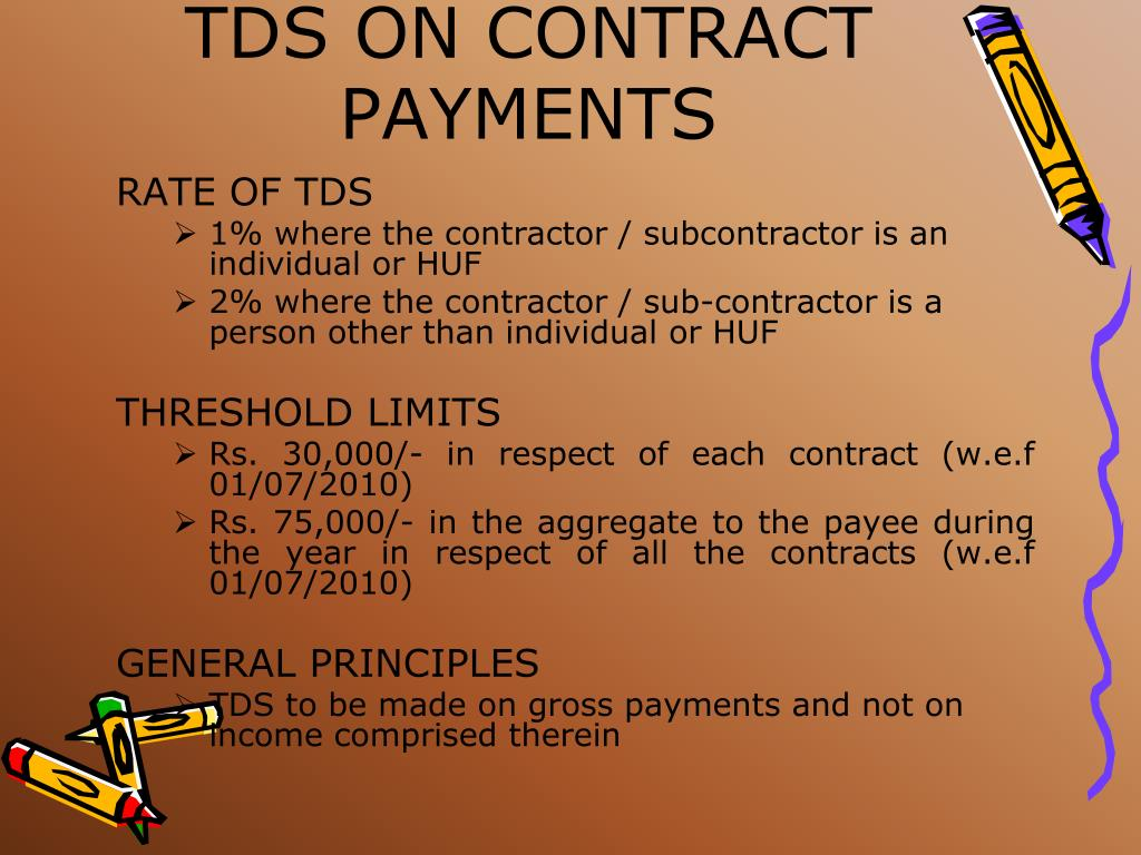 TDS ON CONTRACT PAYMENTS