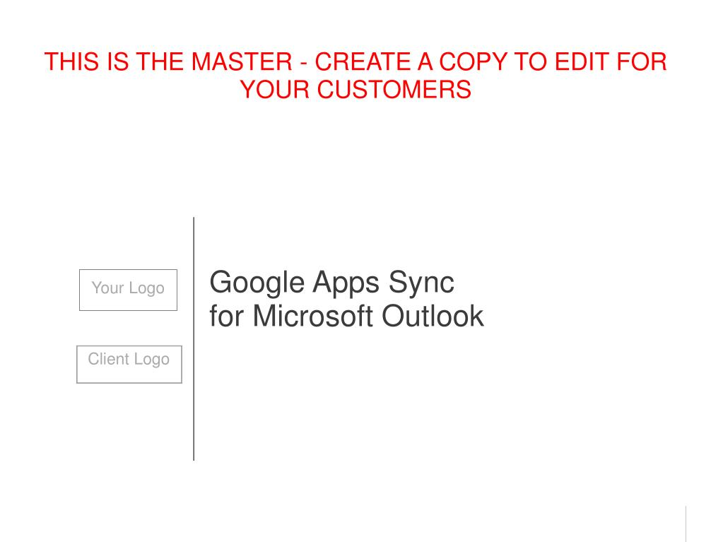 google apps sync for microsoft outlook l.