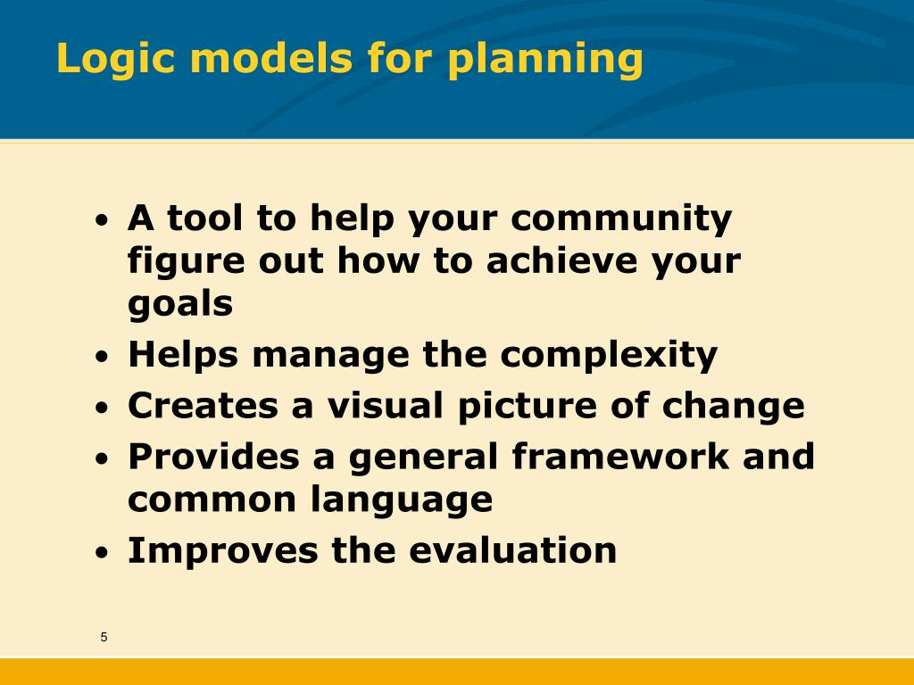 Logic models for planning