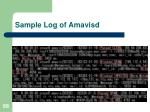 sample log of amavisd