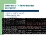 test for smtp authentication connection41