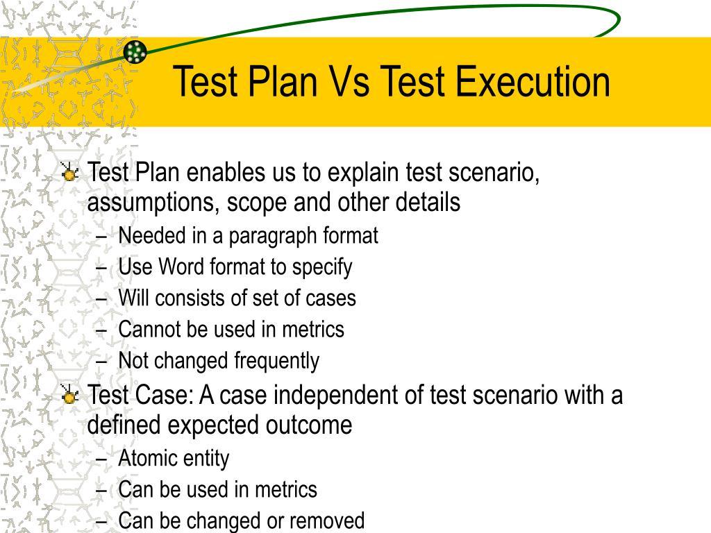 Test Plan Vs Test Execution