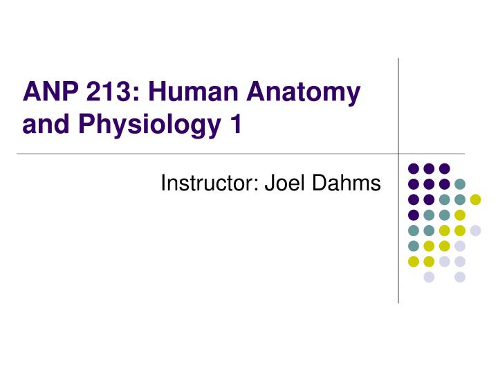 PPT - ANP 213: Human Anatomy and Physiology 1 PowerPoint ...