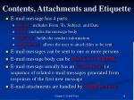 contents attachments and etiquette