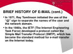 brief history of e mail cont