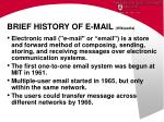 brief history of e mail wikipedia