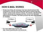 how e mail works