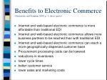 benefits to electronic commerce greenstein and feinman 2000 p 3 direct quote