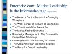 enterprise com market leadership in the information age papows 1998