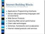 internet building blocks pricewaterhousecoopers 2001 technology forecast