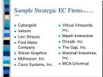 sample strategic ec firms ware et al 1998
