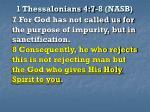 1 thessalonians 4 7 8 nasb