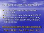our need to know the holy spirit6