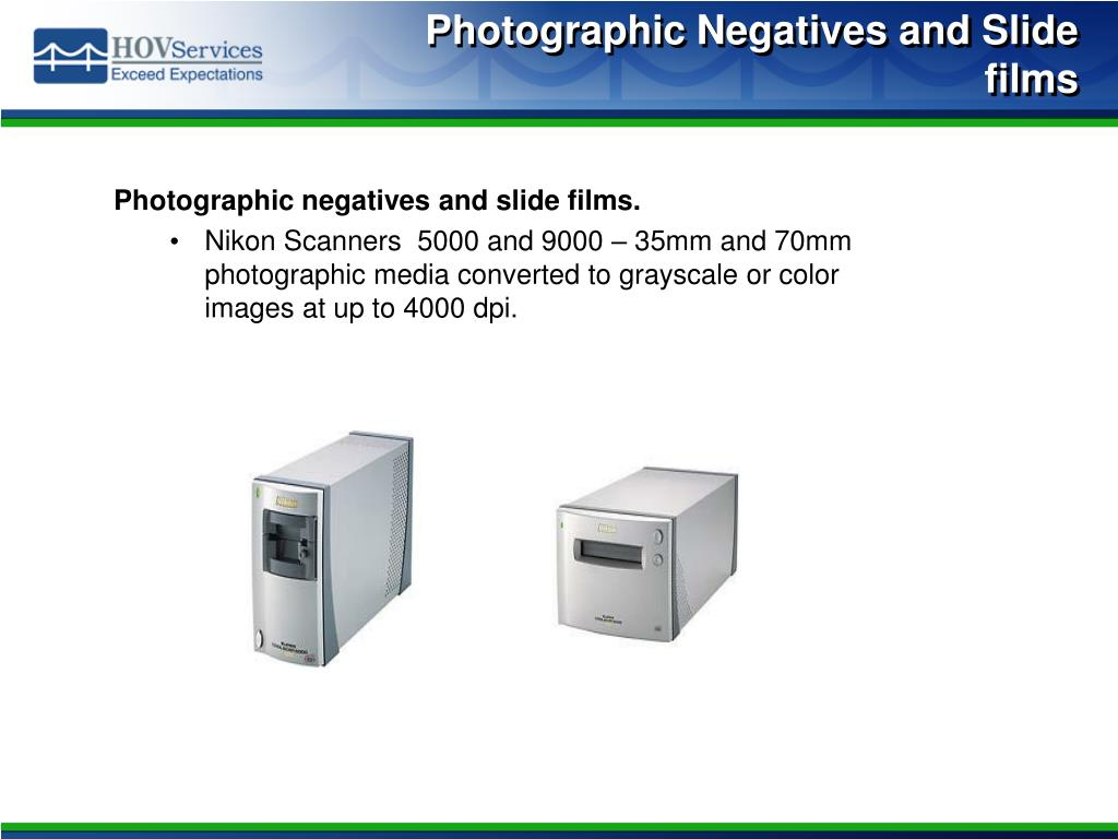 Photographic Negatives and Slide films