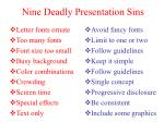 nine deadly presentation sins