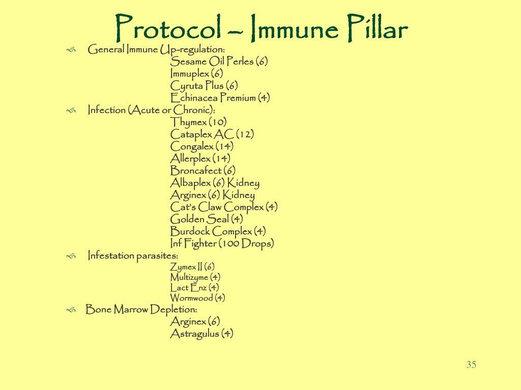 Protocol – Immune Pillar