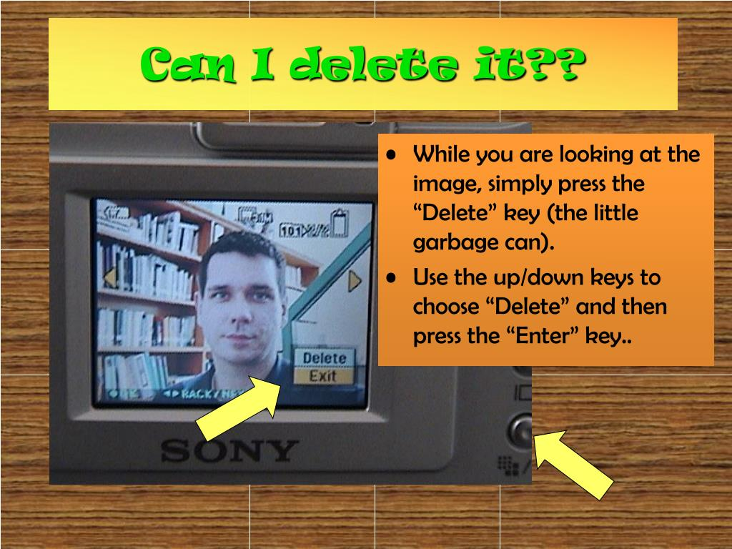"""While you are looking at the image, simply press the """"Delete"""" key (the little garbage can)."""