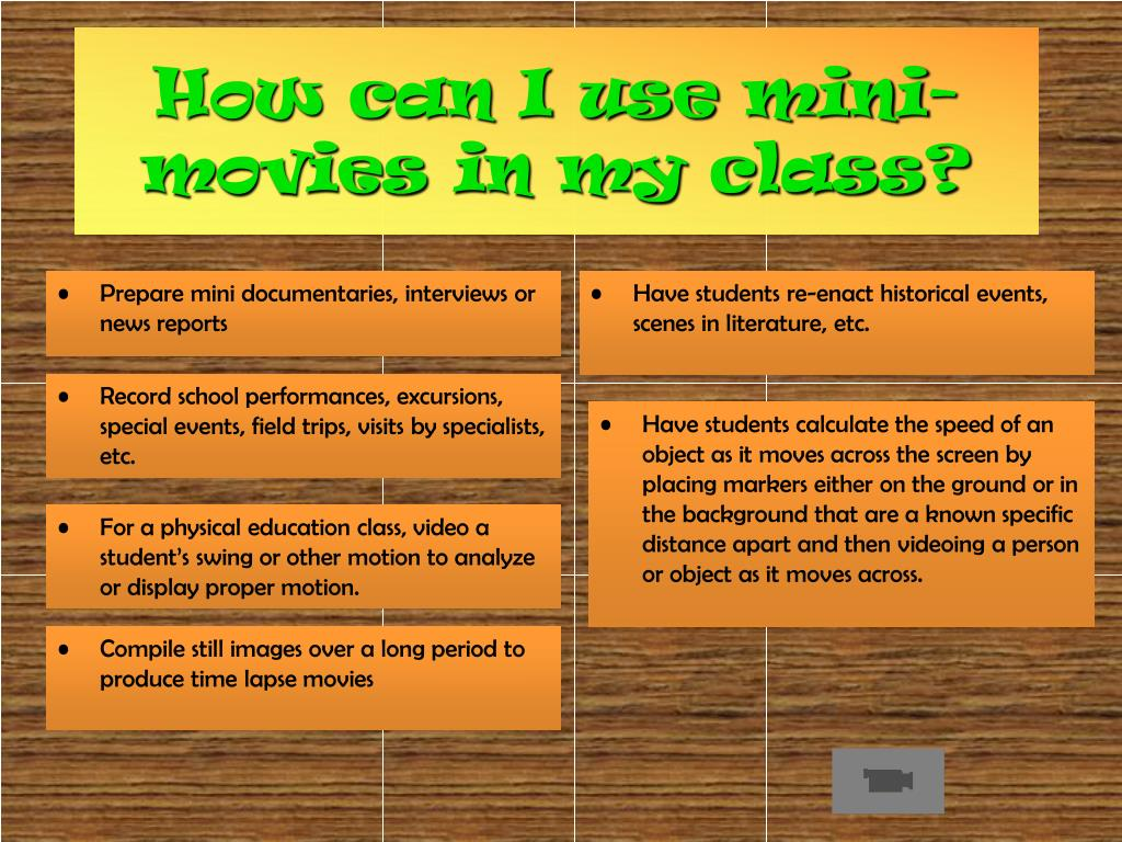 How can I use mini-movies in my class?