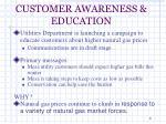 customer awareness education