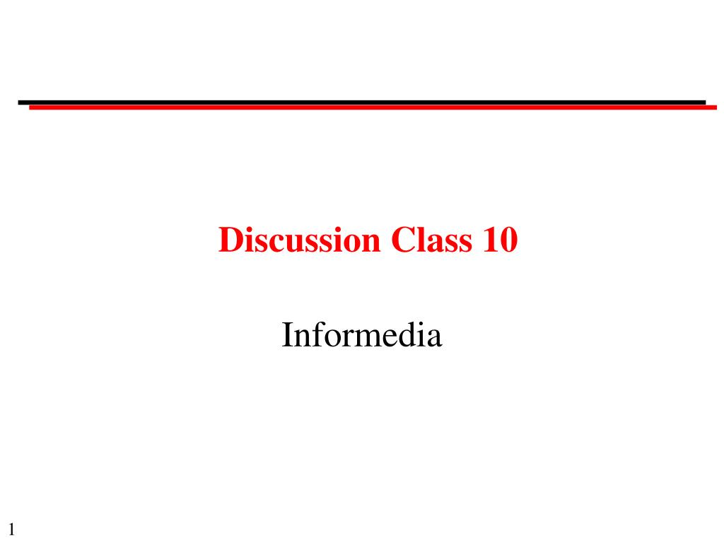 discussion class 10 l.