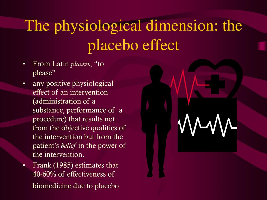 the placebo effect how strong is Easy health options home » healthy living » homeopathy: sham or powerful medicine and you have the makings of a very strong placebo effect.