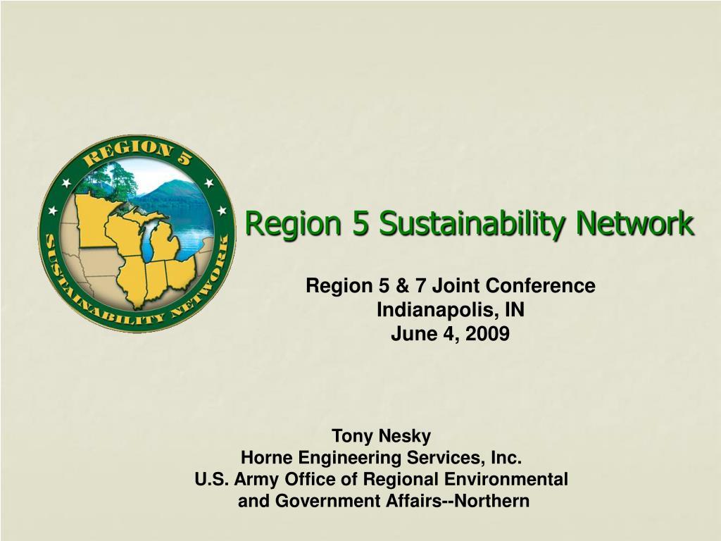 region 5 sustainability network l.