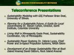 teleconference presentations