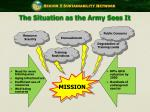 the situation as the army sees it