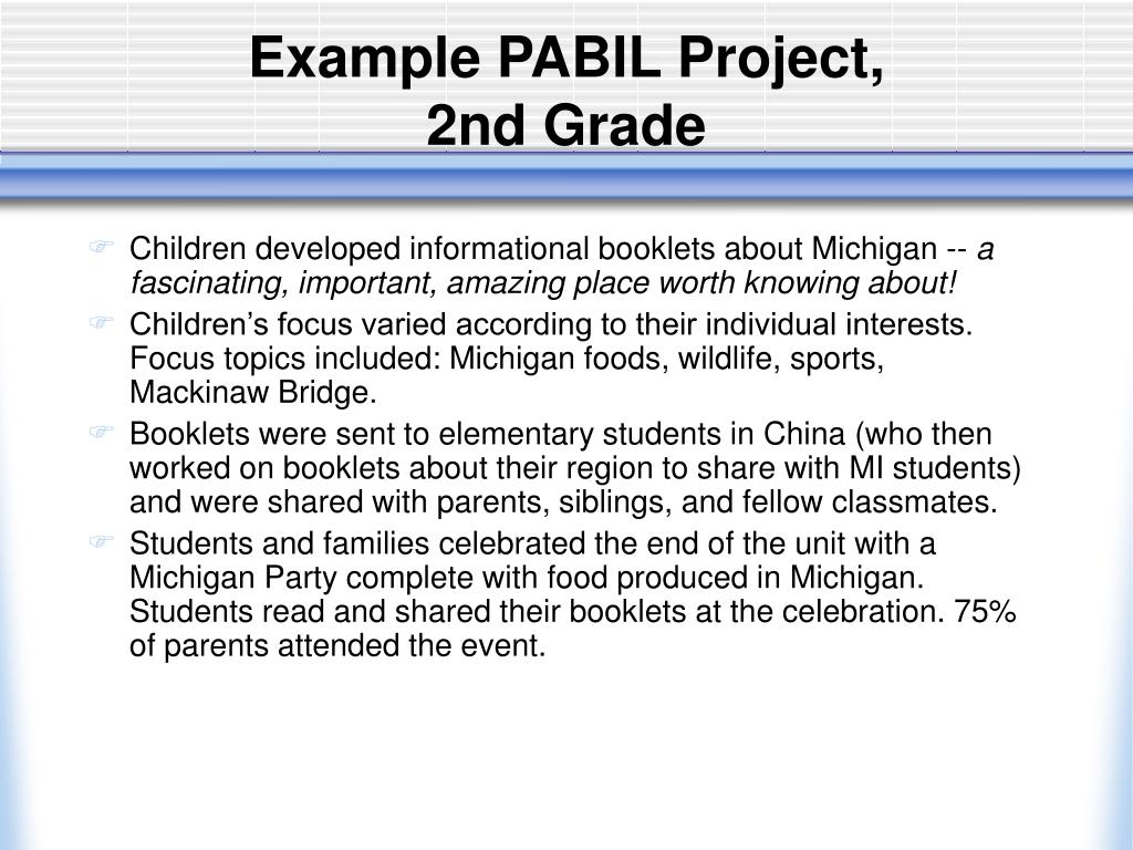 Example PABIL Project,