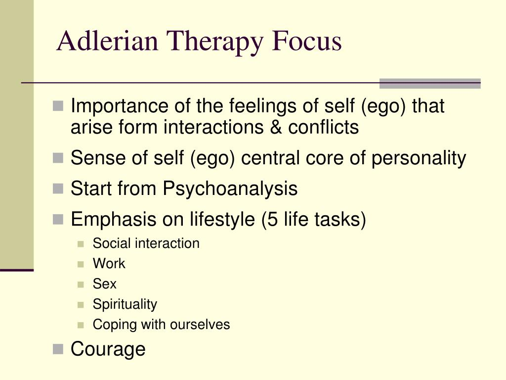 adlerians therapy