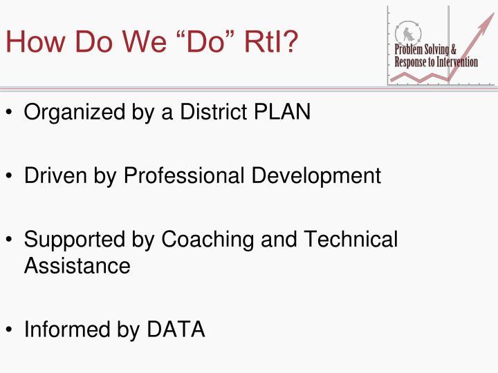 """How Do We """"Do"""" RtI?"""