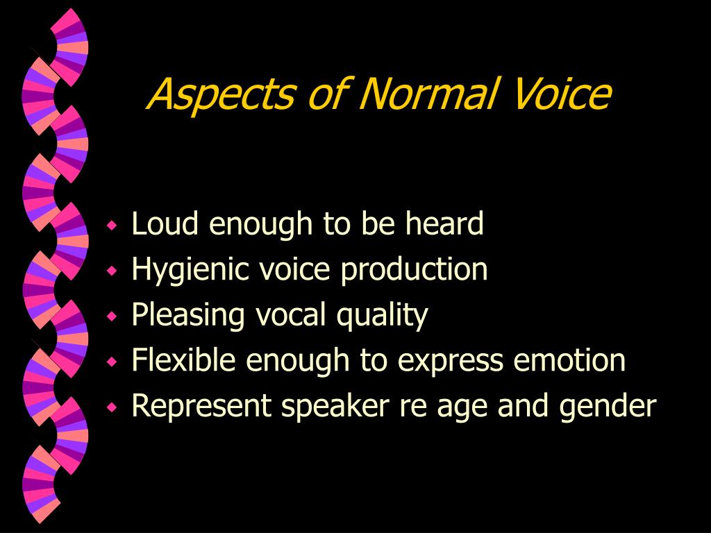 Aspects of Normal Voice