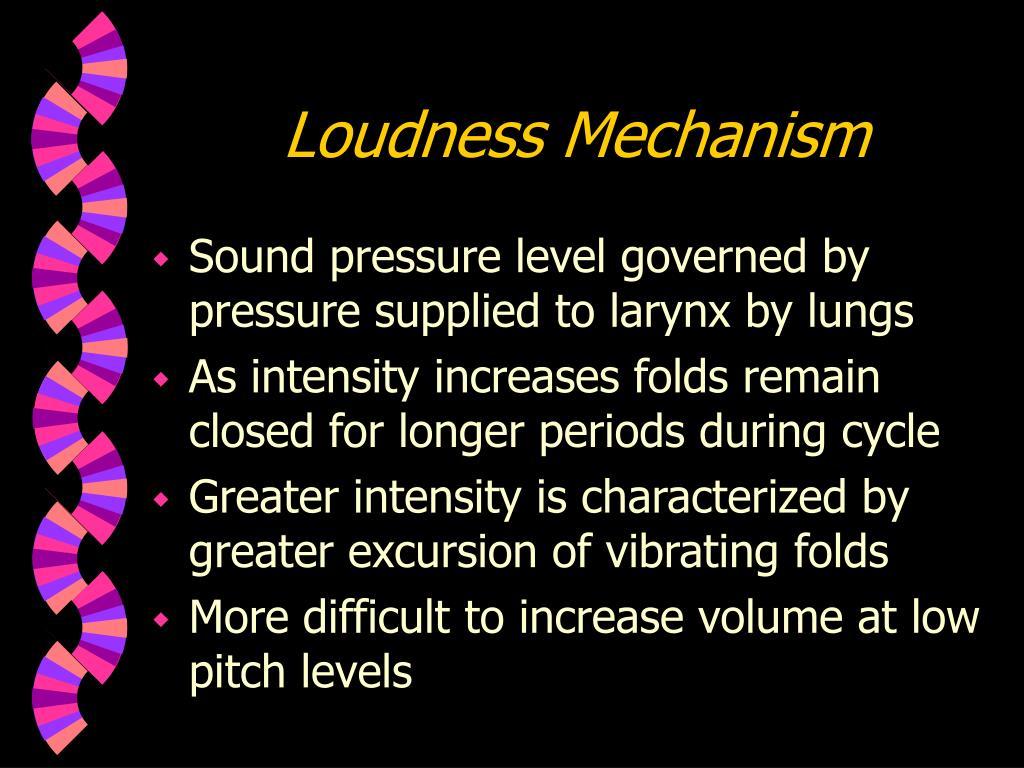 Loudness Mechanism