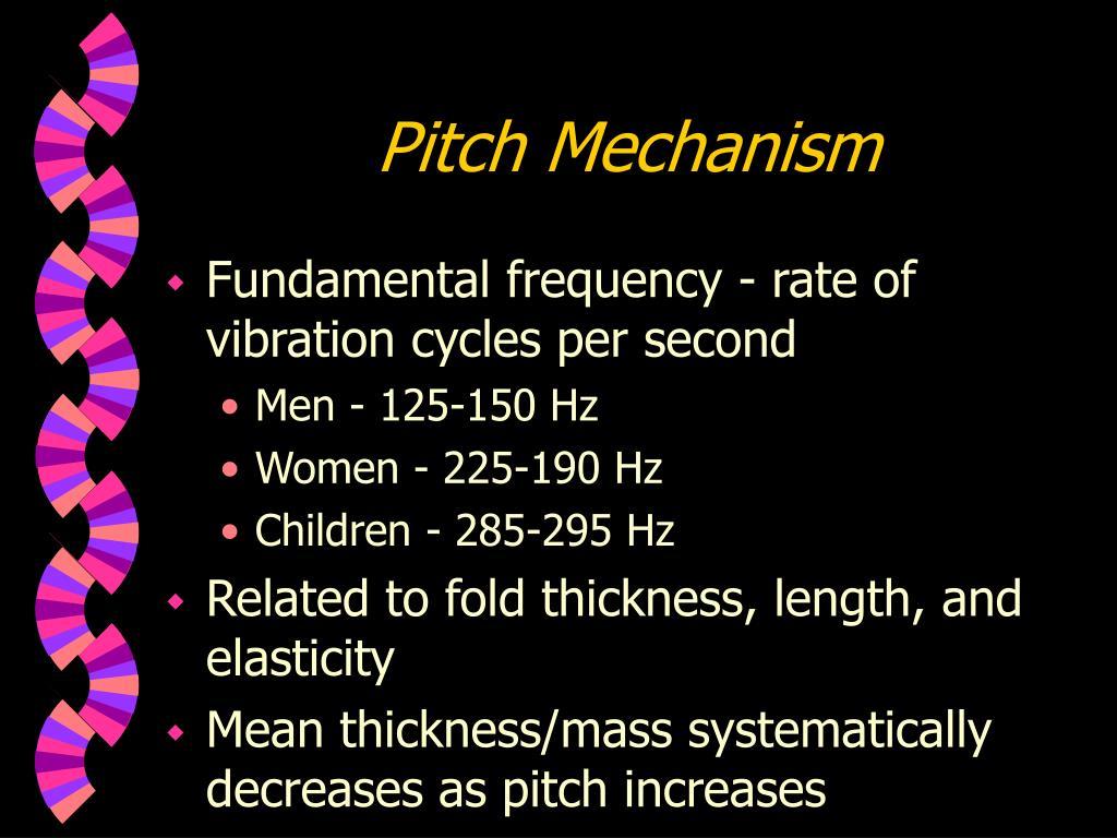 Pitch Mechanism