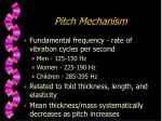 pitch mechanism